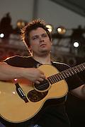 June 16, 2006; Manchester, TN.  2006 Bonnaroo Music Festival. Nickel Creek performs at Bonnaroo 2006.  Photo by Bryan Rinnert