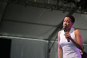 June 16, 2006; Manchester, TN.  2006 Bonnaroo Music Festival. Bettye LaVette performs at Bonnaroo 2006.  Photo by Bryan Rinnert