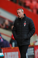 Charlton Athletic manager Lee Bowyer during the EFL Sky Bet League 1 match between Charlton Athletic and Southend United at The Valley, London, England on 9 February 2019.
