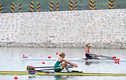 Shunyi, CHINA.  Women's single sculls semi final C/D, RSA W1X, at the 2008 Olympic Regatta, Shunyi Rowing Course. Tuesday 12.08.2008  [Mandatory Credit: Peter SPURRIER, Intersport Images]