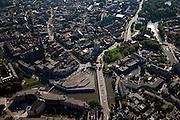 Nederland, Friesland, Leeuwarden, 08-09-2009; Noordoostelijk deel binnenstad, Hoeksterend met Oostersingel Bonofatiuskerk.Eastern part of the city.Luchtfoto (toeslag); aerial photo (additional fee required); .foto Siebe Swart / photo Siebe Swart