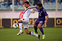 Davide Astori Cagliari, Giuseppe Rossi Fiorentina <br /> Firenze 15-09-2013 Stadio Artemio Franchi <br /> Football Calcio Campionato Italiano Serie A<br /> Fiorentina - Cagliari <br /> Foto Andrea Staccioli Insidefoto<br /> <br /> Fiorentina captain Davide Astori dies suddenly aged 31 . <br /> Astori was staying a hotel with his team-mates ahead of their game on Sunday away at Udinese when he passed away. <br /> Foto Insidefoto