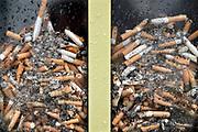 Nederland,Nijmegen, 28-2-2020  Bak om sigaretten in te doen bij een ziekenhuis,  FOTO: FLIP FRANSSEN