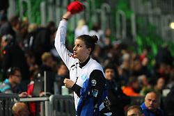 Jelena Grubisic of Krim  during handball match between RK Krim Mercator (SLO) and RK Podravka Vegeta (CRO) in Women's EHF Champions League, on November 13, 2010 in Arena Stozice, Ljubljana, Slovenia. (Photo By Vid Ponikvar / Sportida.com)