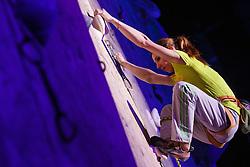 Mina Markovic during retirement of one of the best Slovenian women climbers Maja Vidmar, Sport hall Poden, Skofja Loka, Slovenija, on April 3, 2016 in Skofja Loka, Slovenia. Photo by Grega Valancic / Sportida