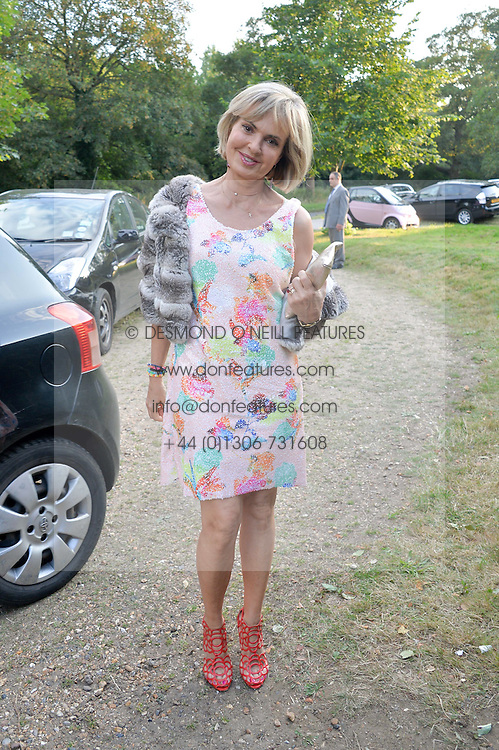 COUNTESS MAYA VON SCHONBURG attending Annabel Goldsmith's Summer party held at her home in Ham, Surrey on 10th July 2014.