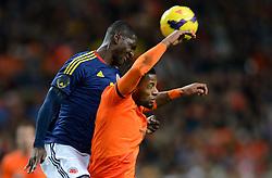 19-11-2013 VOETBAL: NEDERLAND - COLOMBIA: AMSTERDAM<br /> Nederland speelt met 0-0 gelijk tegen Colombia / Christian Zapata , Jeremain Lens<br /> ©2013-FotoHoogendoorn.nl