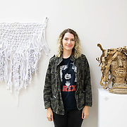 Jessi MacDonald with Wilkie Wall Hanging and Medusa