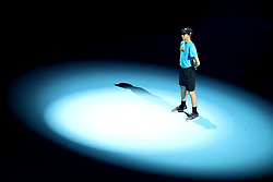 A general view of a ball boy during day six of the Nitto ATP Finals at The O2 Arena, London. PRESS ASSOCIATION Photo. Picture date: Friday November 16, 2018. See PA story TENNIS London. Photo credit should read: John Walton/PA Wire. RESTRICTIONS: Editorial use only, No commercial use without prior permission.