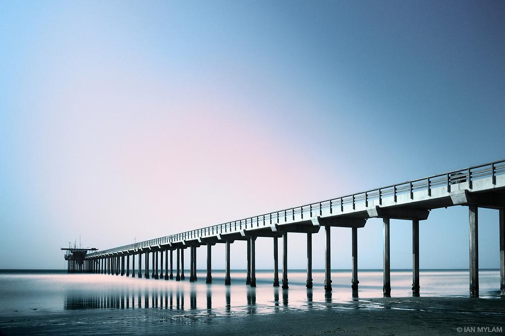 Pier on La Jolla Beach - San Diego, California, USA