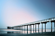 Pier on La Jolla Beach - San Diego, California, USA