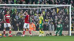 Frank Fielding of Bristol City looks dejected after conceding - Mandatory by-line: Arron Gent/JMP - 23/02/2019 - FOOTBALL - Carrow Road - Norwich, England - Norwich City v Bristol City - Sky Bet Championship