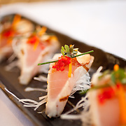 """Scottsdale's Roka Akor features Robatayaki style """"open charcoal"""" cuisine. They specialize in prime steak and sushi and were voted one of the Top 10 Sushi Spots in the United States by Bon Appetit. Pictured is the albacore tataki...Roka Akor is located at 7299 North Scottsdale Road  Paradise Valley, AZ 85253"""