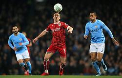 Joe Bryan of Bristol City takes on Danilo of Manchester City - Mandatory by-line: Matt McNulty/JMP - 09/01/2018 - FOOTBALL - Etihad Stadium - Manchester, England - Manchester City v Bristol City - Carabao Cup Semi-Final First Leg