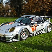 #77, Porsche 997 GT3  RSR (2012) at Rennsport Collective at Stowe House, Buckinghamshire, UK, on 1 November 2020