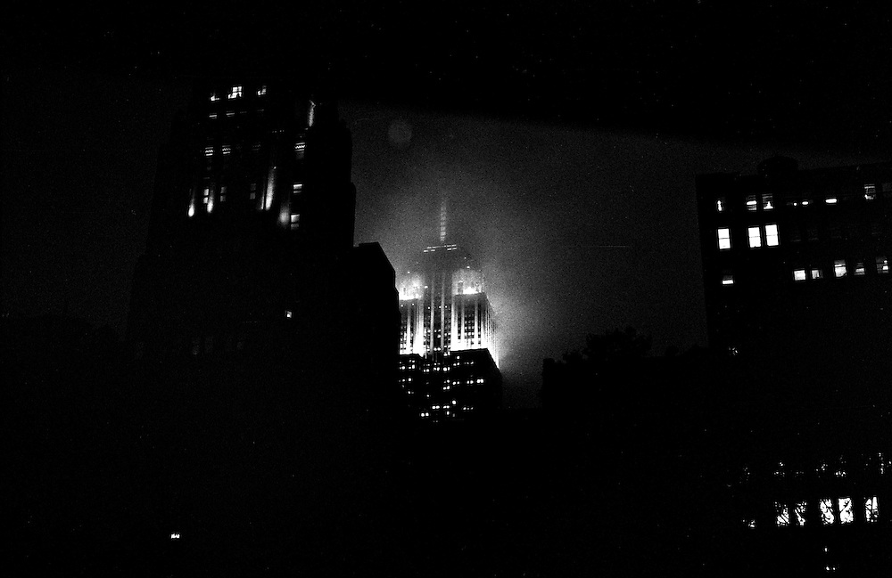 """Empire State Building in the rain...""""I See A Darkness"""" - Oct and Nov 2007..."""