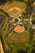 Aerial view of baseball fields Mount Pleasant, SC.