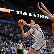 UNCASVILLE, CONNECTICUT- DECEMBER 4: Natalie Butler #51 of the Connecticut Huskies prepares to shoot while defended by Kelsey Lang #40 of the Texas Longhorns during the UConn Huskies Vs Texas Longhorns, NCAA Women's Basketball game in the Jimmy V Classic on December 4th, 2016 at the Mohegan Sun Arena, Uncasville, Connecticut. (Photo by Tim Clayton/Corbis via Getty Images)