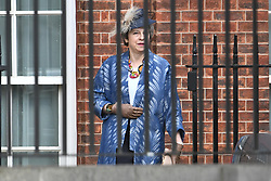 © Licensed to London News Pictures. 11/03/2019. London, UK. British Prime Minister THERESA MAY is seen leaving Downing Street in London, the day before MPs are due to hold a vote on Theresa May's Brexit deal. Parliament is expected to reject the Prime Ministers deal, with suggestions that there could be attempts to remove the PM if there is any delay to Brexit. Photo credit: Ben Cawthra/LNP