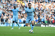 Frank Lampard of Man city in action.Barclays premier league match, Manchester city v Chelsea at the Etihad stadium in Manchester,Lancs on Sunday 21st Sept 2014<br /> pic by Andrew Orchard, Andrew Orchard sports photography.