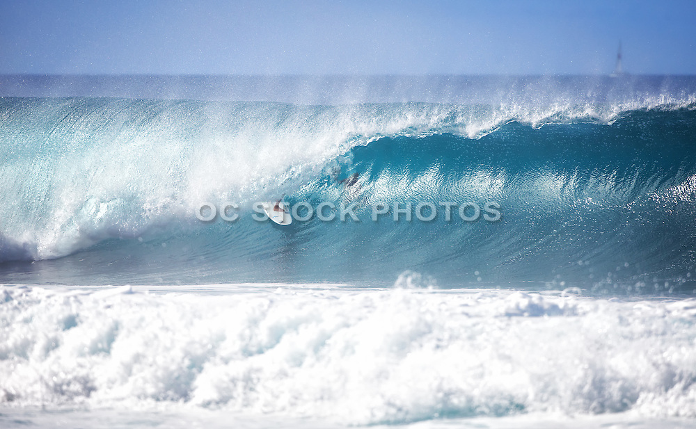 Surfer and Wave Stock Photography