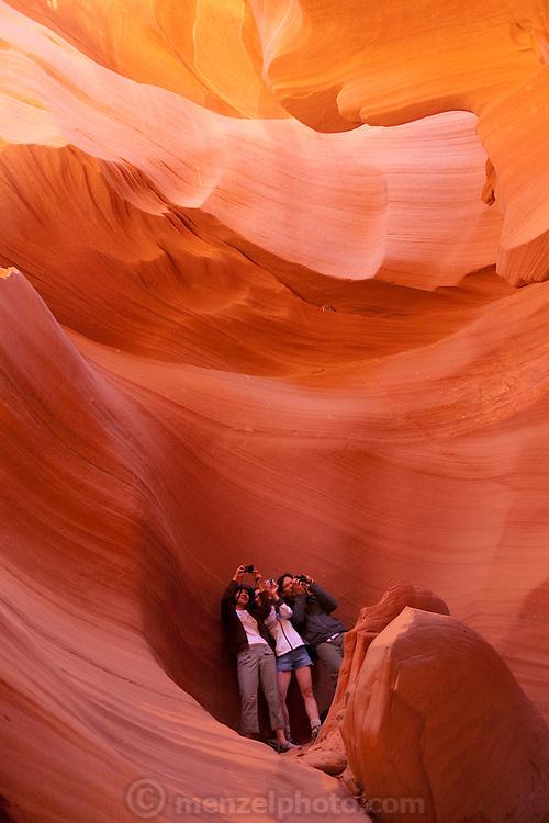 Page, Arizona. Lower Antelope Canyon, slot canyon