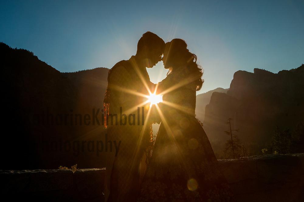 Wedding portrait Yosemite National Park.