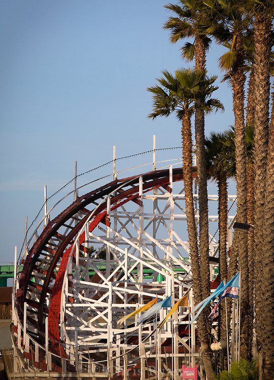 Big Dipper wooden rollercoaster at the Santa Cruz Beach Boardwalk, Santa Cruz, California