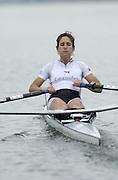 Hazewinkel. BELGUIM  GBR LW1X. Tracy LANGLANDS. 2004 GBR Rowing Trials - Rowing Course, Bloso, Hazewinkel. BELGUIM. [Mandatory Credit Peter Spurrier/ Intersport Images]