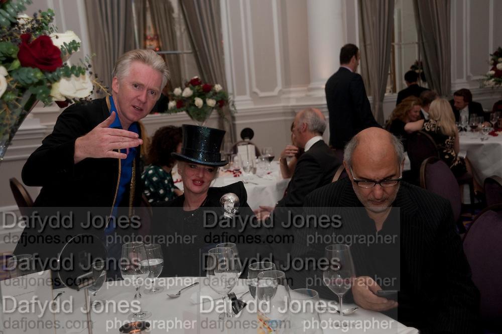 PHILIP TREACY,; URSULA FLANERY; ALAN YENTOB , Liberatum 10th Anniversary dinner in honour of Sir Peter Blake. Hosted by Pable Ganguli and Ella Krasner. The Corinthia Hotel, Whitehall. London. 23 November 2011.
