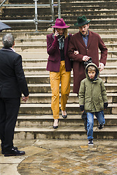 March 4, 2018 - Paris, France - Arizona Muse is seen leaving the the Givenchy show with her husband Boniface Verney-Carron and her son Nikko Quintana as part of the Paris Fashion Week Womenswear Fall/Winter 2018/2019 on March 4, 2018 in Paris, France. (Credit Image: © Nataliya Petrova/NurPhoto via ZUMA Press)
