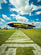The new Goodyear Blimp. Created during AirVenture 2015 in Oshkosh, Wisconsin.  <br /> <br /> Created by aviation photographer John Slemp of Aerographs Aviation Photography. Clients include Goodyear Aviation Tires, Phillips 66 Aviation Fuels, Smithsonian Air & Space magazine, and The Lindbergh Foundation.  Specialising in high end commercial aviation photography and the supply of aviation stock photography for advertising, corporate, and editorial use.