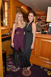 Left to right, JERRY-JANE PEARS and GENEVIEVE GAUNT at an intimate performance by Jessie Ware at Annabel's, Berkeley Square, London on 20th April 2016.