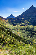 Going to the Sun Road west of Logan Pass