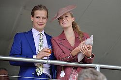 LORD SETTRINGTON and ELÉONORE DECAUX day 3 of the Qatar Glorious Goodwood Festival at Goodwood Racecourse, Chechester, West Sussex on 28th July 2016.