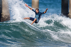 July 31, 2018 - Huntington Beach, California, United States - Huntington Beach, CA - Tuesday July 31, 2018: Bino Lopes in action during a World Surf League (WSL) Qualifying Series (QS) Men's round of 96 heat at the 2018 Vans U.S. Open of Surfing on South side of the Huntington Beach pier. (Credit Image: © Michael Janosz/ISIPhotos via ZUMA Wire)