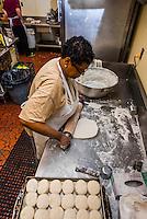 Cook making biscuits, The Roanoker Restaurant, Roanoke, Virginia USA.