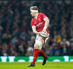 Aaron Wainwright of Wales<br /> <br /> Photographer Simon King/Replay Images<br /> <br /> Friendly - Wales v Barbarians - Saturday 30th November 2019 - Principality Stadium - Cardiff<br /> <br /> World Copyright © Replay Images . All rights reserved. info@replayimages.co.uk - http://replayimages.co.uk