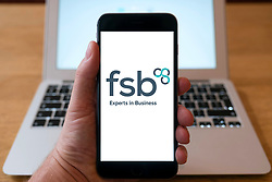 Logo of FSB Federation of Small Businesses on smart phone screen