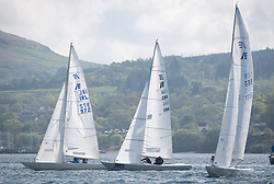 Lights winds dominated the Pelle P Kip Regatta  at Kip Marine weekend of 12/13th May 2018<br /> <br /> Etchells Class <br /> <br /> Images: Marc Turner