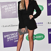 Laura Anderson attend Spectacle Wearer of the Year 2018 at 8 Northumberland avenue, on 23 October 2018, London, UK.