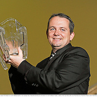 30 April 2012; In attendance at the 13th Annual All-Ireland GAA Golf Challenge launch is Clare manager Davy Fitzgerald with the new All-Ireland GAA Golf Challenge Trophy, which is a replica of the Liam MacCarthy Cup. Waterford City, Waterford. Picture credit: Matt Browne / SPORTSFILE