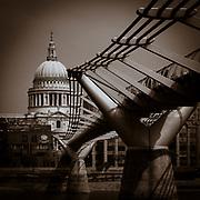 St Pauls with Millenium Bridge