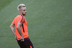 September 26, 2017 - Lisbon, Portugal - Barcelona's midfielder Ivan Rakitic during the training session at Alvalade stadium in Lisbon,  on September 26, 2017, on the eve of the UEFA Champions League Group D football match Sporting CP vs FC Barcelona. (Photo by Filipe Amorim/NurPhoto) (Credit Image: © Filipe Amorim/NurPhoto via ZUMA Press)