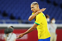 YOKOHAMA, JAPAN - JULY 22: Richarlison of Everton &  Brazil scores a hat trick in a 4-2 victory over Germany in the Men's First Round Group D match during the Tokyo 2020 Olympic Games at International Stadium Yokohama on July 22, 2021 in Yokohama, Kanagawa, Japan<br /> <br /> Credit: COLORSPORT/Ian MacNicol
