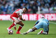 Arsenal's Alexis Sanchez in action during the FA Cup Semi Final match at Wembley Stadium, London. Picture date: April 23rd, 2017. Pic credit should read: David Klein/Sportimage