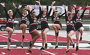 Members of the Lindenwood University - Belleville Dance Team gave a performance during halftime of their Homecoming Game against the Menlo College Oaks.