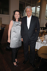 DR & MRS GERT-RUDOLPH FLICK at a dinner hosted by Vogue in honour of Antony Gormley held at the new Skylon restaurant at the refurbished Royal Festival Hall, South Bank, London on 22nd May 2007.<br /><br />NON EXCLUSIVE - WORLD RIGHTS