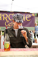The Portland Farmers' Market in the South Park Blocks on Saturday mornings.  Arcane Cellars offers wine tasting at the Saturday Farmers' Market.  Jeff and Jason Silva (father and son) are the vintners.  Neil is an employee and oversees the wine tasting at the market.