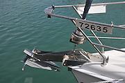 Anchor on a yacht